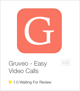 The Gruveo app awaiting review in the App Store
