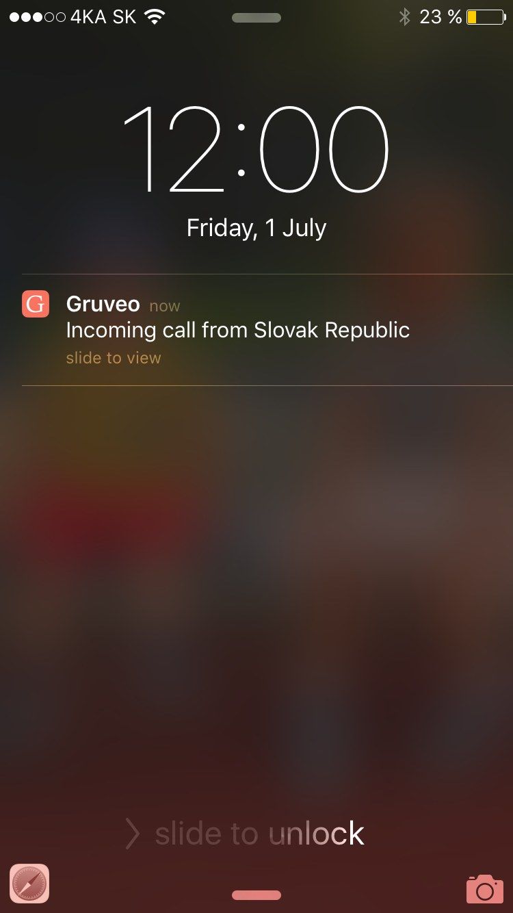 Call Notification on iPhone