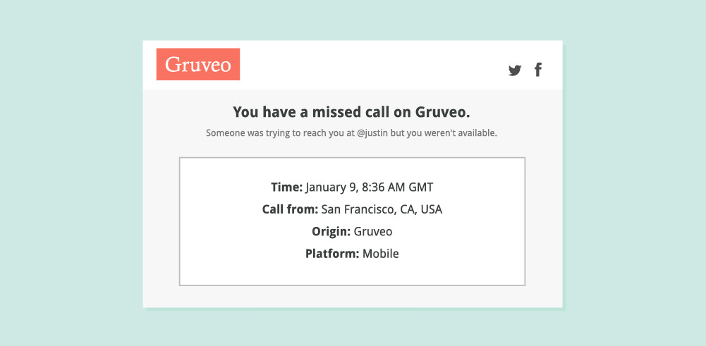 If you miss a call to your direct code, you'll receive an email notification.