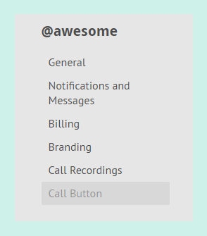 Call Button section in a Gruveo profile