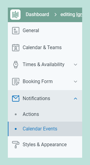 Notifications tab
